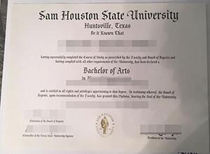 Purchase a fake SHSU diploma, Sam Houston State University degree