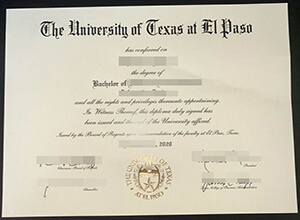 The latest version of the UTEP degree, Buy American diploma online