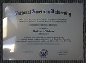 National American University diploma