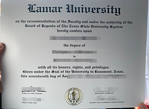 Lamar University Diploma