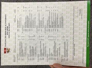 What does the original NTU transcript look like? Buy NTU diploma