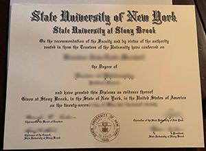 Stony Brook University diploma