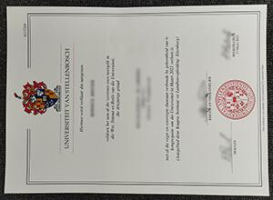Stellenbosch University diploma