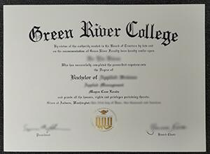 Create fake diplomas, Buy Green River College diploma in Washington