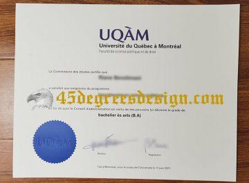How long to get a realistic Université du Québec à Montréal (UQAM) diploma online?