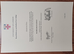 Royal Holloway and Bedford New College diploma