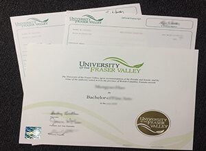 How long to get a fake University of the Fraser Valley degree and transcript?
