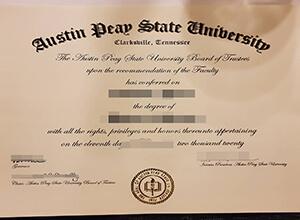 Where to buy fake Austin Peay State University diploma?
