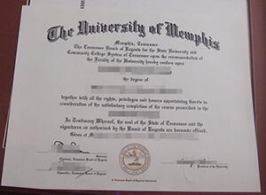 University of Memphis diploma