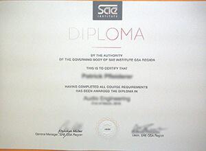 SAE Institute diploma