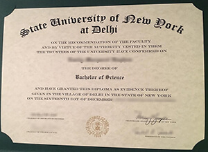 How fast to get a fake SUNY Delhi  degree online?