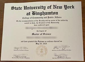 Copy SUNY Binghamton fake diploma : Buy fake degree USA