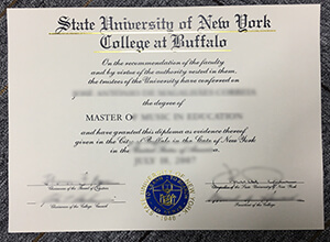State University of New York College at Buffalo fake diploma sample