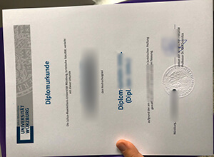 How to phony a real University of Würzburg diploma online?