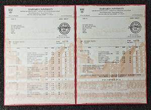 Harvard University transcript