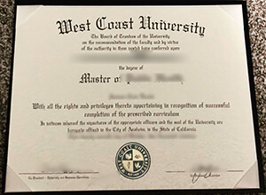 The fastest way to get a fake West Coast University diploma in the U.S.?