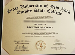 How long to get a fake Empire State College diploma?