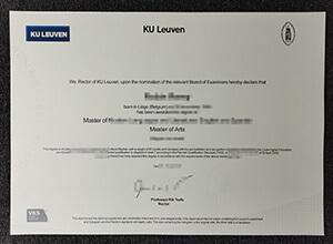 KU Leuven diploma