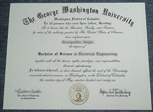 George Washington University diploma