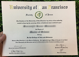 Is It Easy To Make A Fake University of San Francisco (USF) diploma