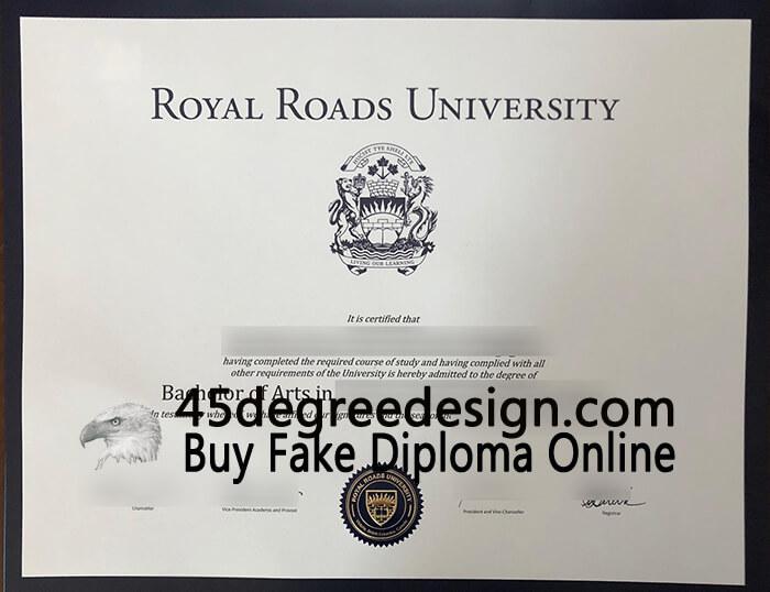 Royal Roads University diploma