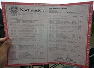 Northeastern University transcript