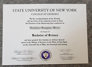 SUNY Geneseo diploma
