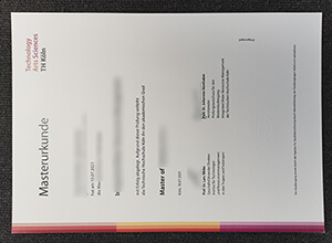 How to make a fake TH Köln University of Applied Sciences diploma?