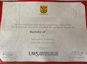 How to order a fake University of the West of Scotland degree?
