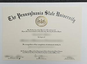 Pennsylvania State University MBA diploma