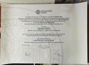 University of Vienna diploma