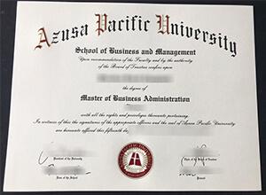 Where to Order Fake Azusa Pacific University (APU) Degree/Transcript?