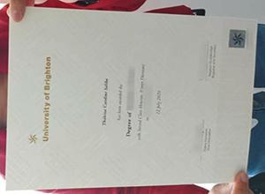 University of Brighton fake degree sample in 2021, Buy diploma in UK