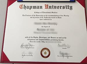 Chapman University diploma