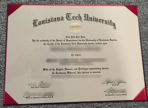 How fast to get a realistic Louisiana Tech University diploma in USA?