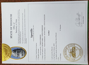 How to buy a realistic State of Missouri Apostille Certificate