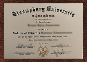 How much to get a copy of Bloomsburg University of Pennsylvania degree?