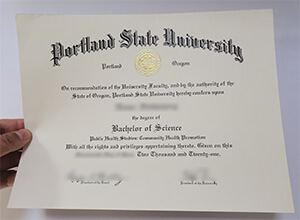 People like to buy fake Portland State University BSc diploma