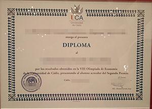 University of Cádiz diploma
