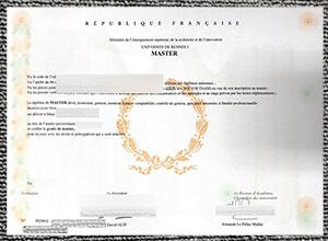 Université Rennes-I diploma