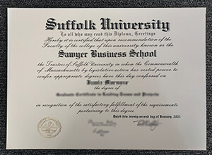 Buy fake Suffolk University diploma in Massachusetts