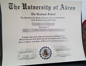 How to buy a University of Akron fake diploma online?
