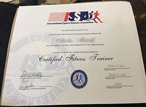 Purchase a International Sports Sciences Association (ISSA) certificate online
