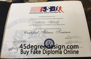 International Sports Sciences Association (ISSA) certificate