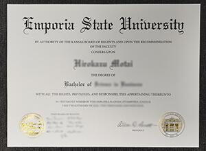 ESU degree, Emporia State degree, Emporia State University fake diploma