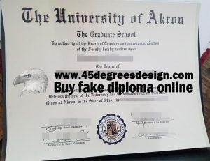 University of Akron diploma