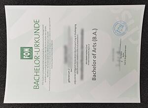 FOM Hochschule Bachelor Urkunde