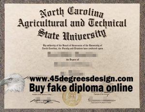 North Carolina A&T diploma