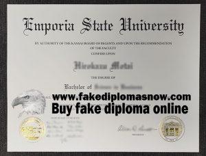 ESU degree , Emporia State degree, Emporia State University fake diploma