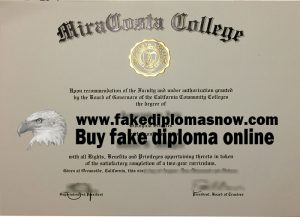 MiraCosta College diploma, MiraCosta College degree